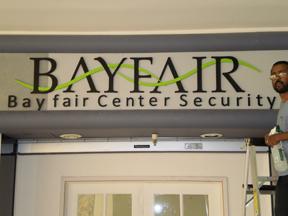 Bayfair Mall Acrylic Lettering
