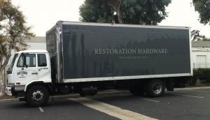 Restoration Hardware Truck Wrap