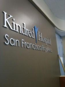 Kindred Hospital Aluminum Lobby Letters