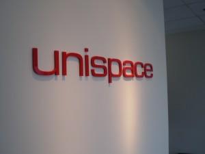 Unispace Lobby Sign