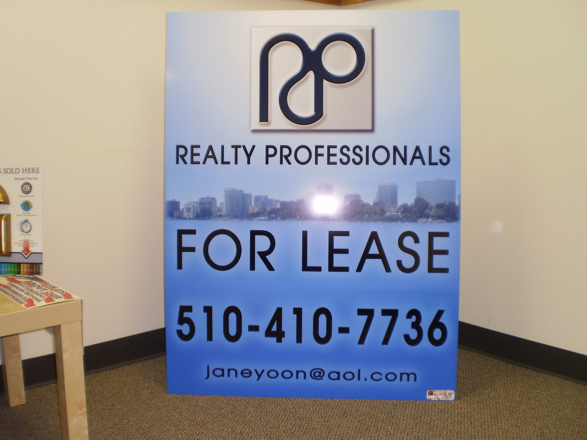 Real Estate For Lease Signs Hayward CA