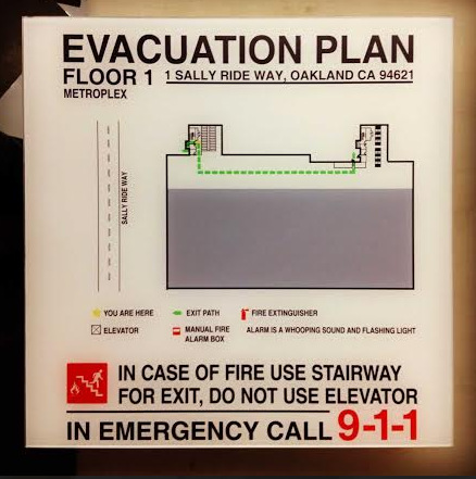Looking For Evacuation Maps And Fire Safety Signs In