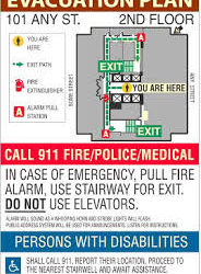 Fire Safety – Evacuation Map Sign Projects, Oakland, CA